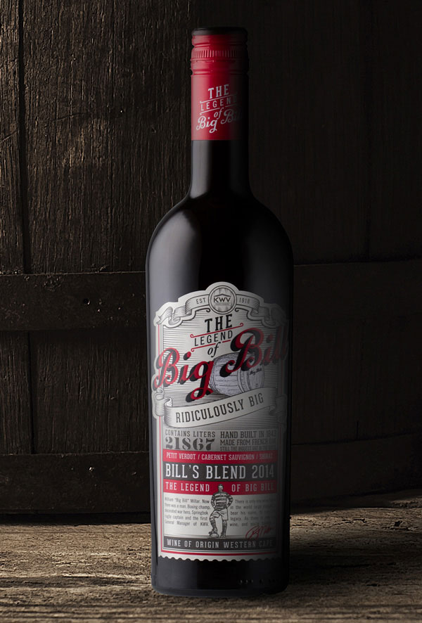 KWV Big Bill Wine Packaging